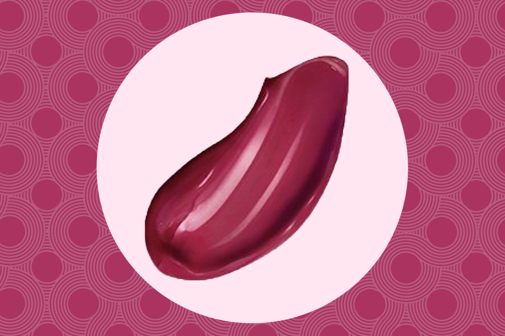 A swatch of cranberry L'Oréal lipstick
